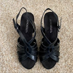 Aerosoles Black Wedges | 6